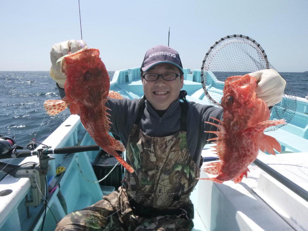 オニカサゴ 良型オニカサゴのイッカ釣り!