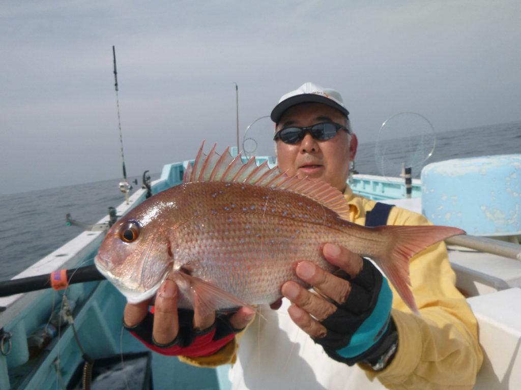 乗合マダイ五目 マダイ25cm - 38cm 9枚 小型ですが数釣れました。