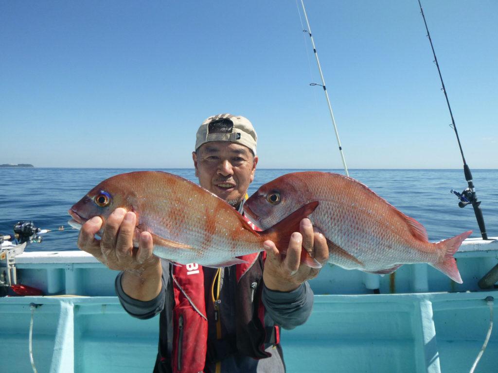 マダイ おいしいサイズがよく釣れました。